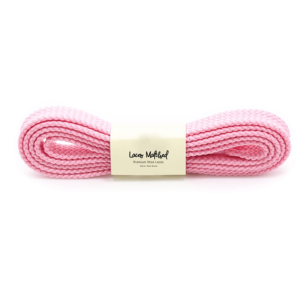 Pale pink flat shoelace