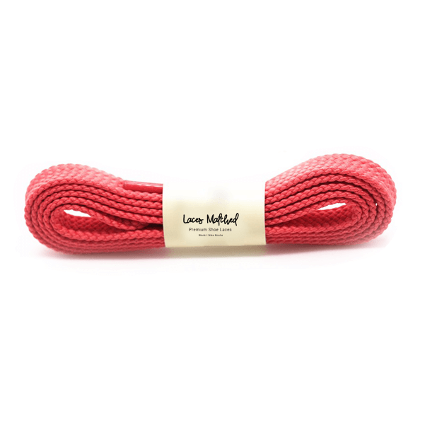 Lacesmatched 120cm flat Red Shoe Lace