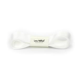 White Bow Shoelaces