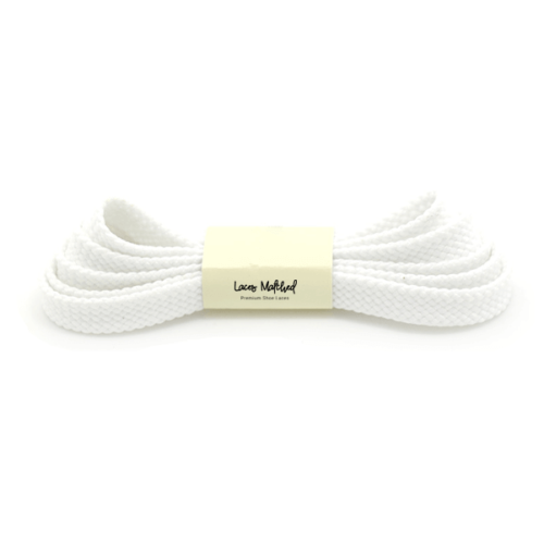 White 120cm shoelaces