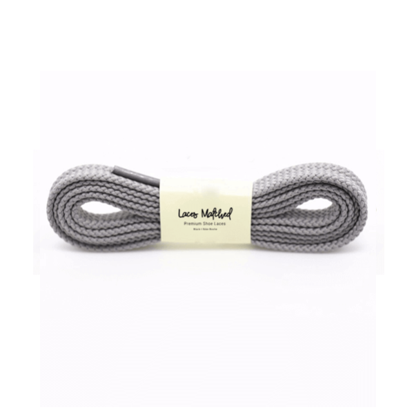 100cm Grey Flat Shoelaces