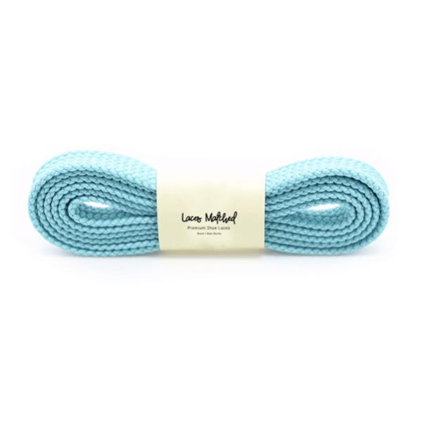 100cm Light Blue Flat Shoelaces