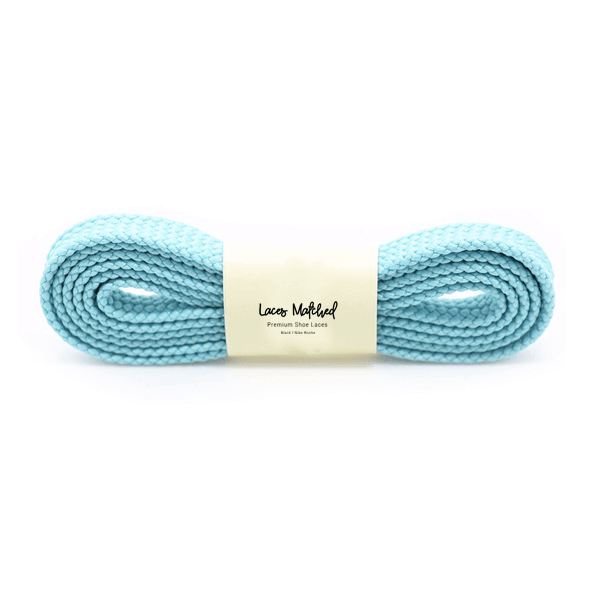 100cm Light Blue Flat Shoelaces