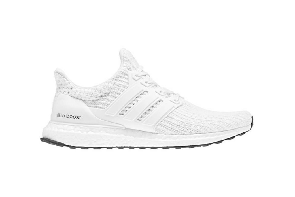 All White Adidas Ultra Boost Silhouette