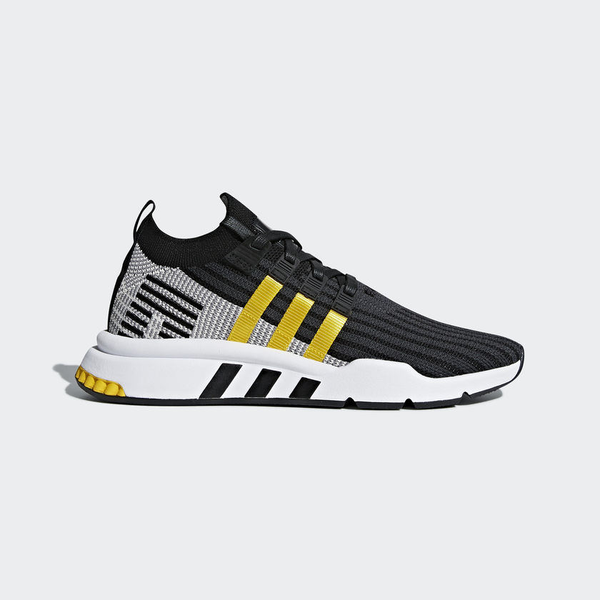 EQT SUPPORT MID ADV PRIMEKNIT black and yellow