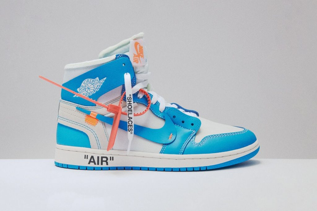 Off White x Air Jordan 1 Powder Blue